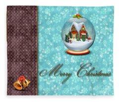 Christmas Card 13 Fleece Blanket