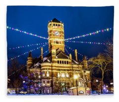 Christmas On The Square Fleece Blanket