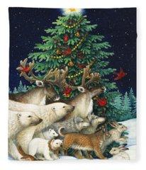 Christmas Parade Fleece Blanket