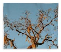 Christmas Plus One Tree Fleece Blanket