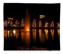 Christmas Reflection - Christmas Card Fleece Blanket