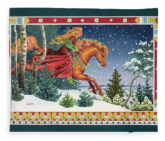 Christmas Ride Fleece Blanket