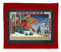 Christmas Ride Fleece Blanket