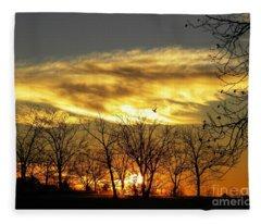 Christmas Sunrise Fleece Blanket
