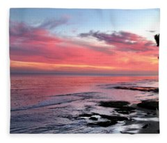 Christmas Sunset Fleece Blanket