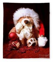 Christmas Teddy Fleece Blanket
