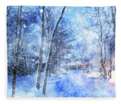 Christmas Wishes Fleece Blanket