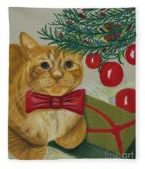 Christmas With Rufus Fleece Blanket