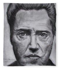 Christopher Walken Fleece Blanket