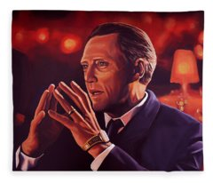 Christopher Walken Painting Fleece Blanket