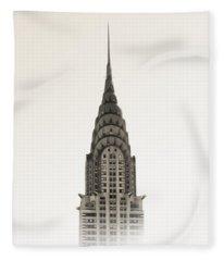 Chrysler Building - Nyc Fleece Blanket