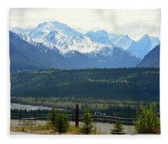 Chugach Mountains Fleece Blanket