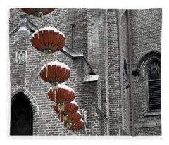 Church Lanterns Fleece Blanket