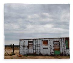 Cima Union Pacific Railroad Station Fleece Blanket