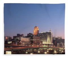 Cincinnati In Morning Twilight Fleece Blanket