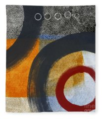 Circles 3 Fleece Blanket