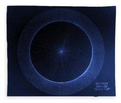 Circles Don't Exist Pi 180 Fleece Blanket