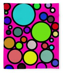 Circles Galore Fleece Blanket