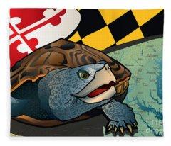 Citizen Terrapin Maryland's Turtle Fleece Blanket