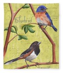Citron Songbirds 1 Fleece Blanket