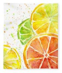 Summer Fruit Fleece Blankets