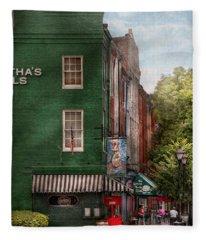 City - Baltimore - Fells Point Md - Bertha's And The Greene Turtle  Fleece Blanket