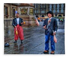 City Jugglers Fleece Blanket
