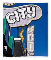 City Motel Las Vegas Fleece Blanket