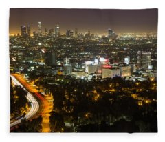 City Of Angels Fleece Blanket