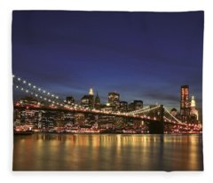 City Of Lights Fleece Blanket