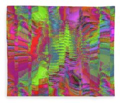 City Of Stairways Fleece Blanket