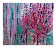 City Pear Tree Fleece Blanket