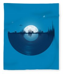 City Tunes Fleece Blanket