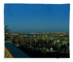 City Viewed From An Observation Point Fleece Blanket