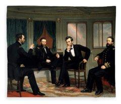 Civil War Union Leaders -- The Peacemakers Fleece Blanket