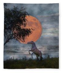 Claiming The Moon Fleece Blanket