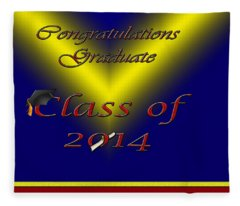Class Of 2014 Card Fleece Blanket