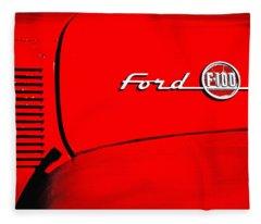 Classic Ford F100 Fleece Blanket
