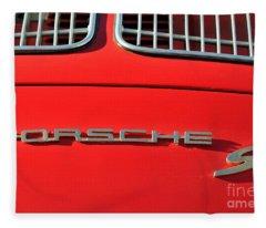 Classic Porsche S Logo Fleece Blanket