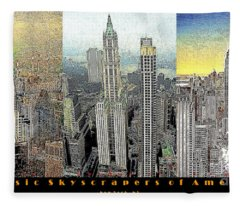 Classic Skyscrapers Of America 20130428 Fleece Blanket