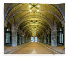 Classical Arches And Columns Fleece Blanket
