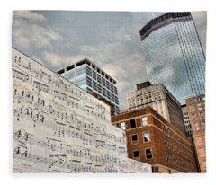 Classical Graffiti Fleece Blanket