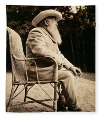Claude Monet 1840-1926 Bw Photo Fleece Blanket