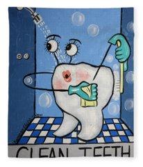 Clean Tooth Fleece Blanket