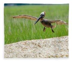 Clear For Landing Fleece Blanket