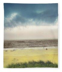 Clearing Storm Montauk  Fleece Blanket