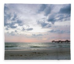 Clearwater Fishing Pier Fleece Blanket