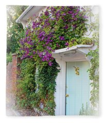 Clematis Around The Door Fleece Blanket