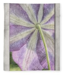 Clematis Miniseelik  Fleece Blanket