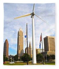 Cleveland Ohio Science Center Fleece Blanket
